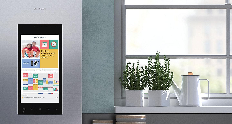 Kühlschrank Kalender : Samsung family hub ein kühlschrank mit einem wi fi fähigen